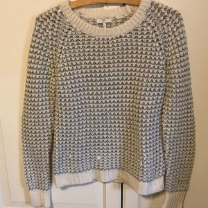 White, grey sparkly Joie sweater. Size small
